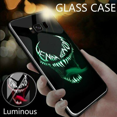 Samsung Galaxy S8 S9 Note 9 8 Luminous Marvel Venom Deadpool Batman Case Luxury