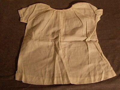 Vintage Infant Cotton Dress.   White, short sleeve. Nice collectible from 1930's