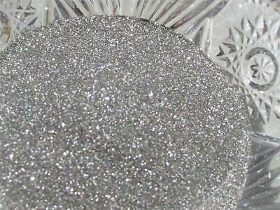 Real German GLASS GLITTER Extra Fine Pure Silver 1 Ounce 100 Grit
