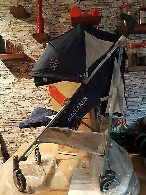 Maclaren Quest 2018 Stroller medieval blue  /  silver new boxed
