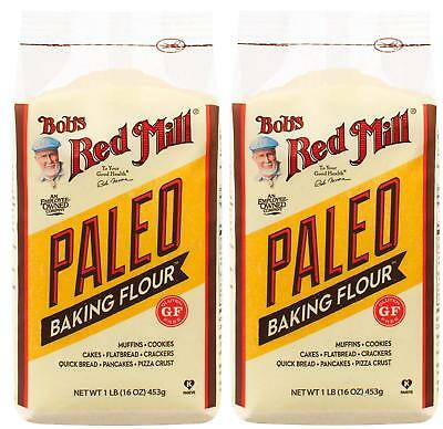 Bobs Red Mill Flour Baking Paleo Gluten Free, 2 Pack, 16 oz Bags, #B4