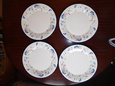 Four Royal Doulton Expressions Windermere Design Dinner plates 10 3/4 inch  vgc