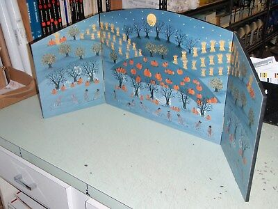 Dept 56 52933 Halloween Backdrop Scene Tree Ghost Pumpkin Folding Panel Village