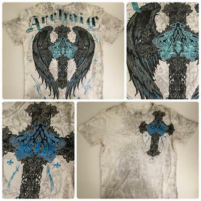 Archaic by Affliction Short Sleeve Graphic T Shirt - Size Large