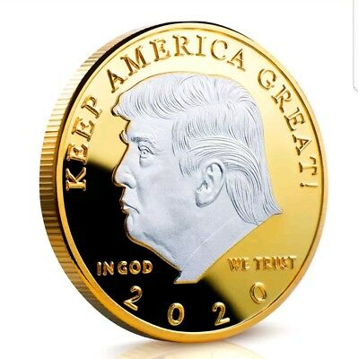 Donald Trump 2020 Silver on Gold coin KEEP AMERICA GREAT!