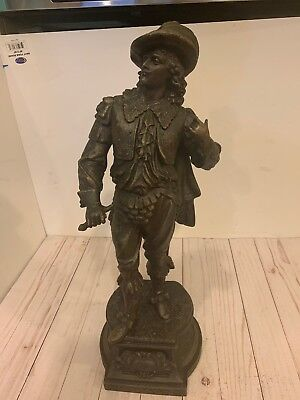 Vintage large 20'' Tall Don Juan Metal Statue Figurine Sculptor