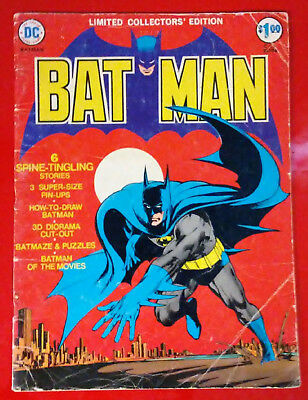 Vintage DC LIMITED COLLECTOR'S EDITION BATMAN #C-25, G/VG- cond. (1974)