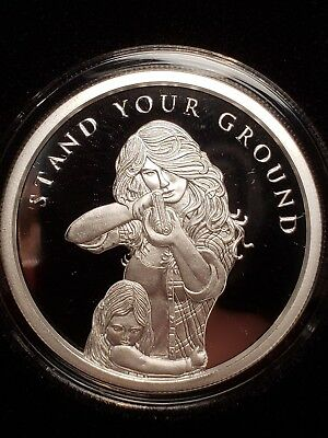 2018 Silver Shield 1 oz Silver Proof Stand Your Ground MiniMintage