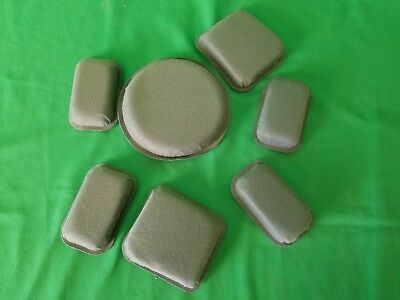 """US Military Issue Mich ACH Helmet Pads Set of 7 suspension pads 3/4"""""""