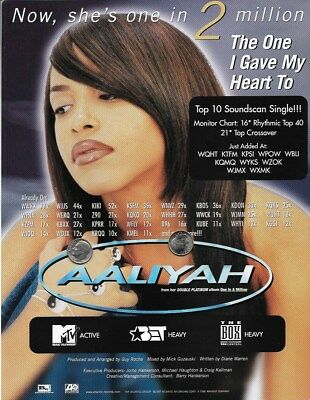 Aaliyah Original Trade Magazine Advertisement Rare! The One I Gave My Heart To