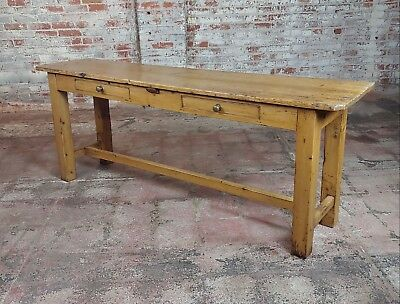 Antique 19th century French Pine Console Sofa Table