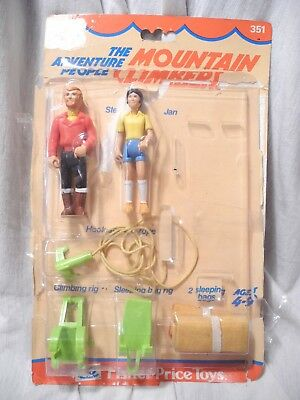 Fisher Price - 351 - Adventures People - Mountain Climber, Bergsteiger - Vintage