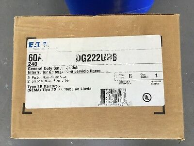 Eaton Cutler Hammer DG222URB Non-Fusible Outdoor Safety Switch Type 3R 60A 240V