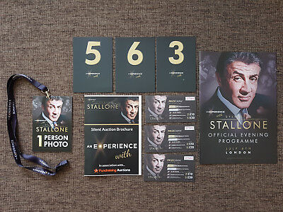 An Experience With Sylvester Stallone LONDON Original Programme, Tickets, RARE