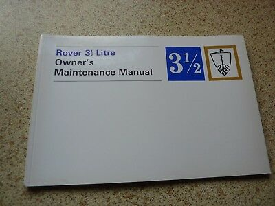 ROVER P5B Maintenance manual.  New.  Genuine.  Part no 605215.  1972 edition.