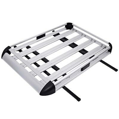 Aluminum Roof Tray Platform Rack Luggage Cargo Universal Fit Roof Car