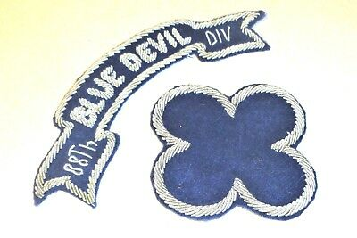 Bullion 88th Division w/ 'Blue Devil' German Theater Made Hand Embroidered Patch