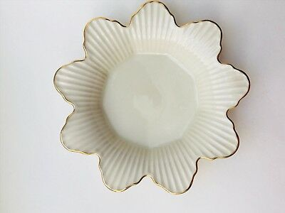 Lenox Meridian Collection Candy Dish Flower with Gold Trim - Discontinued