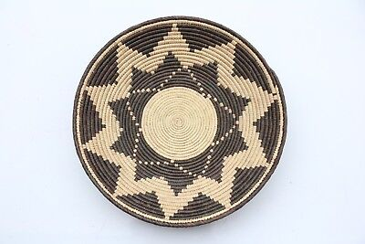 Hand Woven SouthWestern shallow bowl Baskets, approx. 13in wide. 2-4in Deep