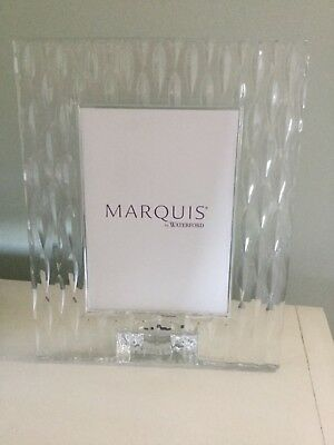 """Marquis By Waterford Cut Crystal Rainfall 5X7"""" Photo Frame Contemporary Modern"""