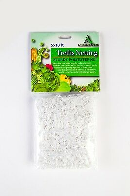 AGW 5ft x 30ft Heavy Duty Trellis Netting Garden Plant Support Grow Mesh Net