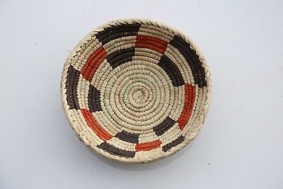 Hand Woven SouthWestern shallow bowl Baskets, approx. 7-9in wide. 3-4in Deep