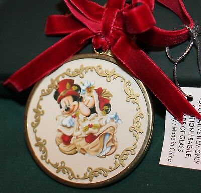 Disney Parks Mickey and Minnie Mouse Victorian Holiday Christmas Ornament