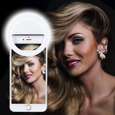 Rechargeable 36 LED Selfie Ring Clip-on Phone Light Fill-in iPhone Android