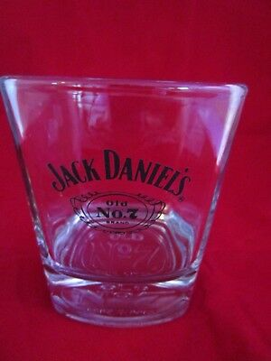 """Jack Daniels Old No.7 Square 3.5"""" Rocks Low-ball Weighted Whiskey Glass NEW"""