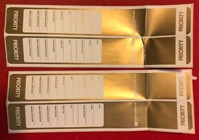 NCL Norwegian Cruise Line VIP Priority Disembarkation Gold Luggage Tags (4)