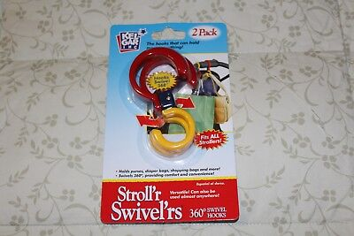 NEW Stroll'r Swivel'rs (red, yellow, blue) - 2 Pack