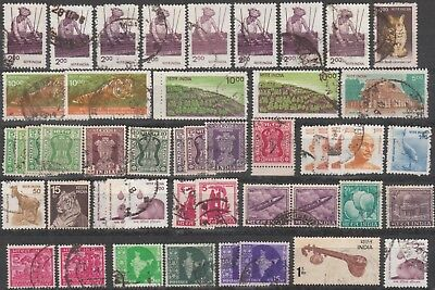 India Collection Of (48) Stamps Used