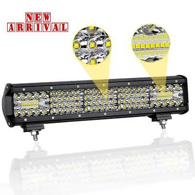 15Inch 224w LED Light Bar Spot Flood Work Lamp FOR 4WD Boat UTE Driving ATV Jeep