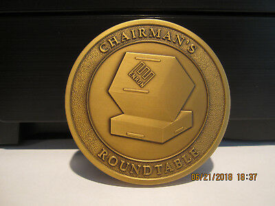VERY RARE--Enron Corp Chairman's Roundtable Medallion--One of 50-Cast in Bronze