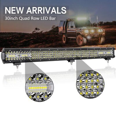 30INCH 496W Osram Led Light Bar Flood Spot Combo Driving Offroad 4x4WD Truck ATV
