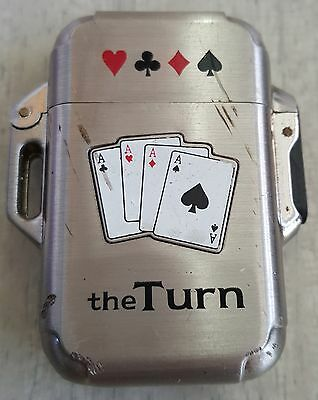 The Turn Silver Lighter Poker Deck of Cards Ace Casino