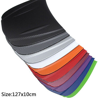 Carbon Fiber Vinyl Film Car Wrap Roll Adhesive Sticker Decal Sheet 127x10cm New