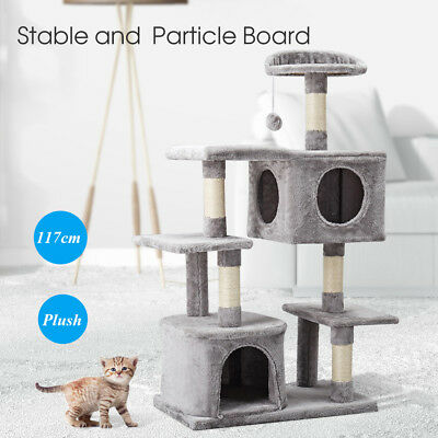 117cm Cat Scratching Tree Scratcher Post Pole Furniture Gym House Toy MultiLevel