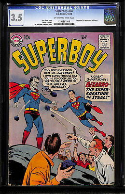 Superboy 68 CGC 3.5 Off-W to White Bizarro 1st First appearance Not Pressed?