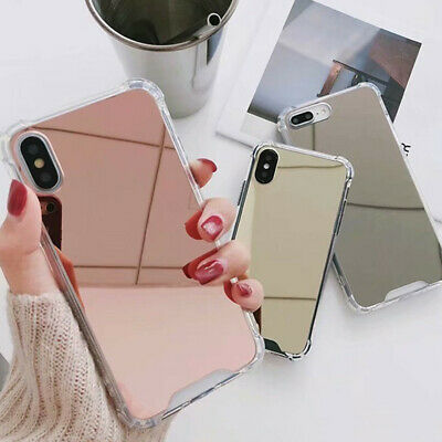 iPhone 11 Pro Max XR 8 7 Plus Luxury Mirror Slim Soft Back Protective Case Cover