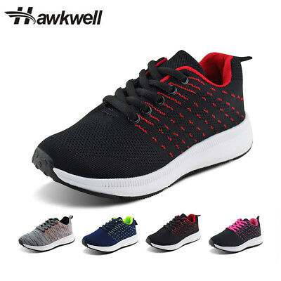 Hawkwell Kids Sports Knit Shoes Breathable Casual Lace-up Running Sneaker Boys