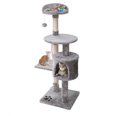 Cat Scratching Tree Scratcher Post Pole Furniture Toy Condo House Hammock 112cm