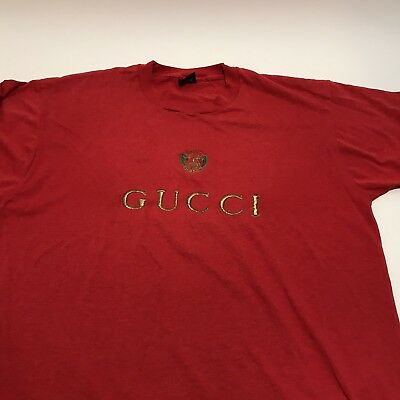 353aabd844f VINTAGE EMBROIDERED BOOTLEG Gucci T Shirt Single Stitch 90 s VTG Tee ...