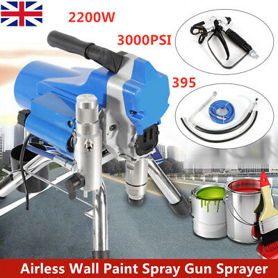 395 Airless Wall Paint Spray Gun Sprayer Spraying Machine 2200W 3000PSI 2.5L/M
