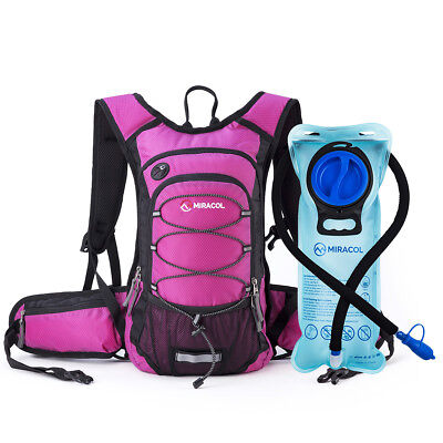 MIRACOL Hydration Backpack Pack With 2L Water Bladder Hiking Camping Gear