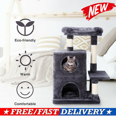 Cat Scratching Post Tree condo House Furniture Activity Large Tunnel Platform