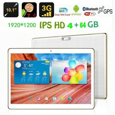 """10.1"""" Inch Android 7.0 Tablet PC Quad core 64GB Wifi Google Dual Camera GPS"""
