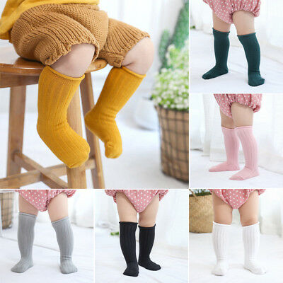 Kids Baby Toddler Girl Knee High Socks Children Boys Cotton Warm Socks Stocking