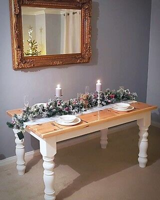 5ft french Farmhouse Solid Pine shabby chic dining table