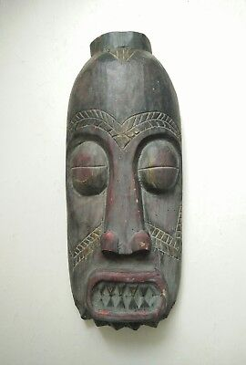 Vintage antique Wooden mask Tribal Hand Made Hand Carved Wooden Wall HangingMask